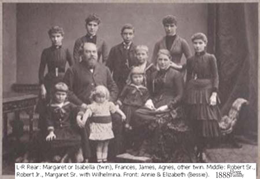 BOBBY HOGG Family about 1888